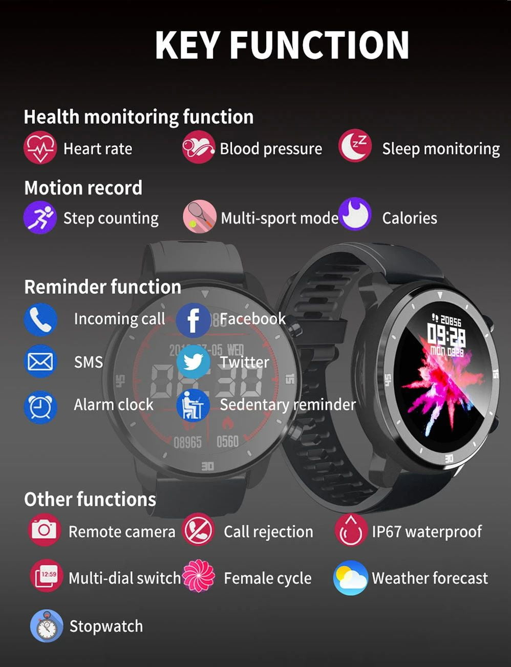 M37 full touch screen heart rate blood pressure monitor (17)