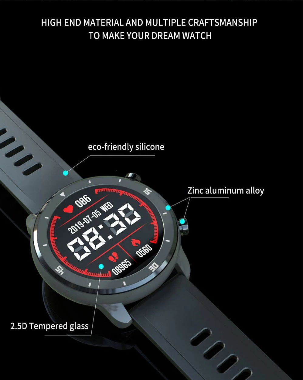 M37 full touch screen heart rate blood pressure monitor (4)