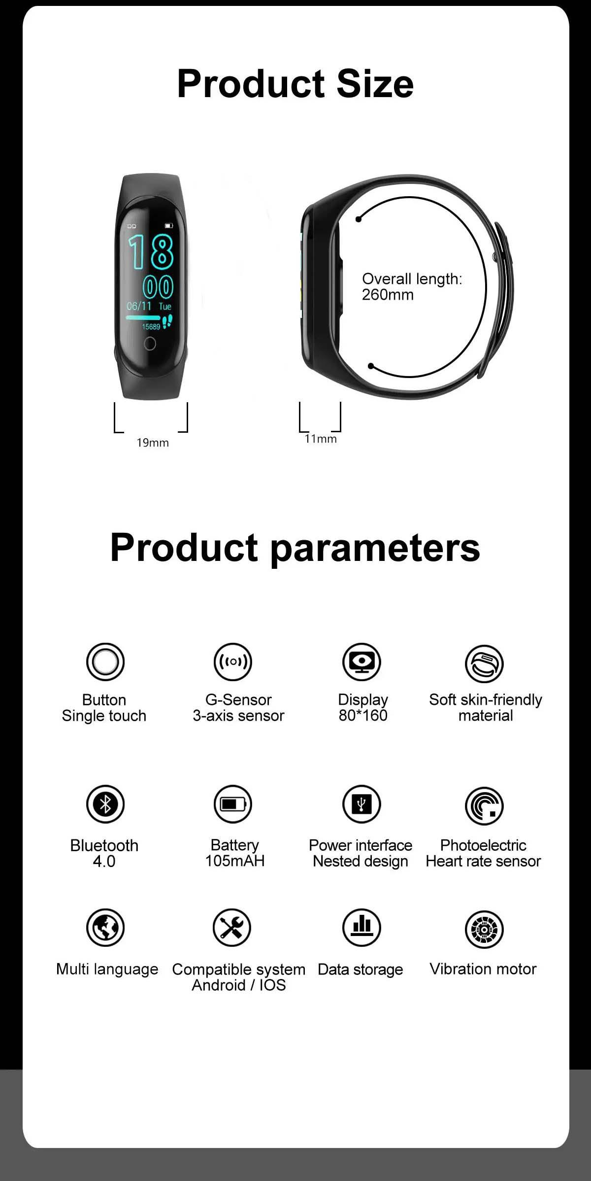 M4 max wristband color screen ip67 blood pressure o2 smart (25)