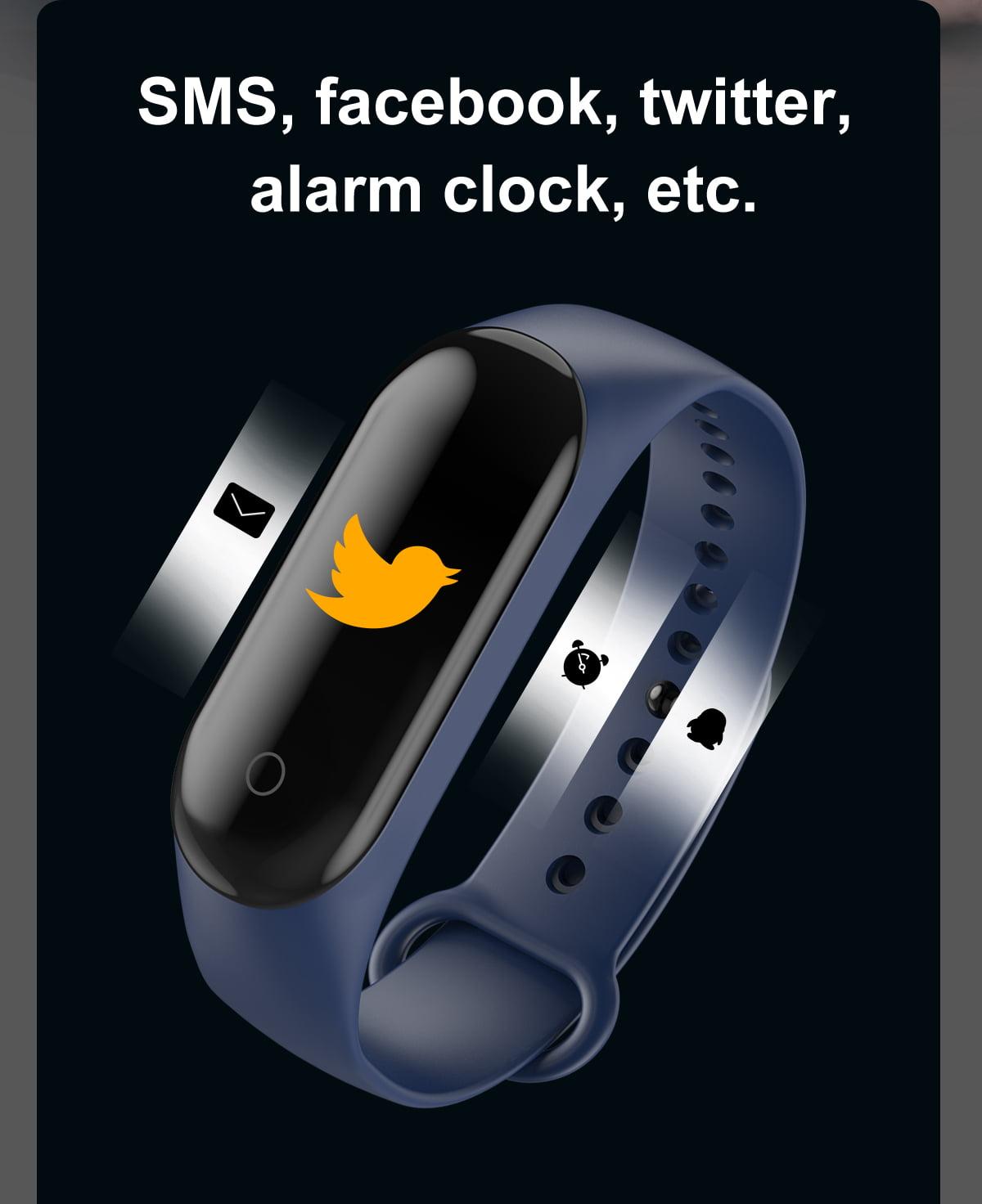 M4 max wristband color screen ip67 blood pressure o2 smart (4)