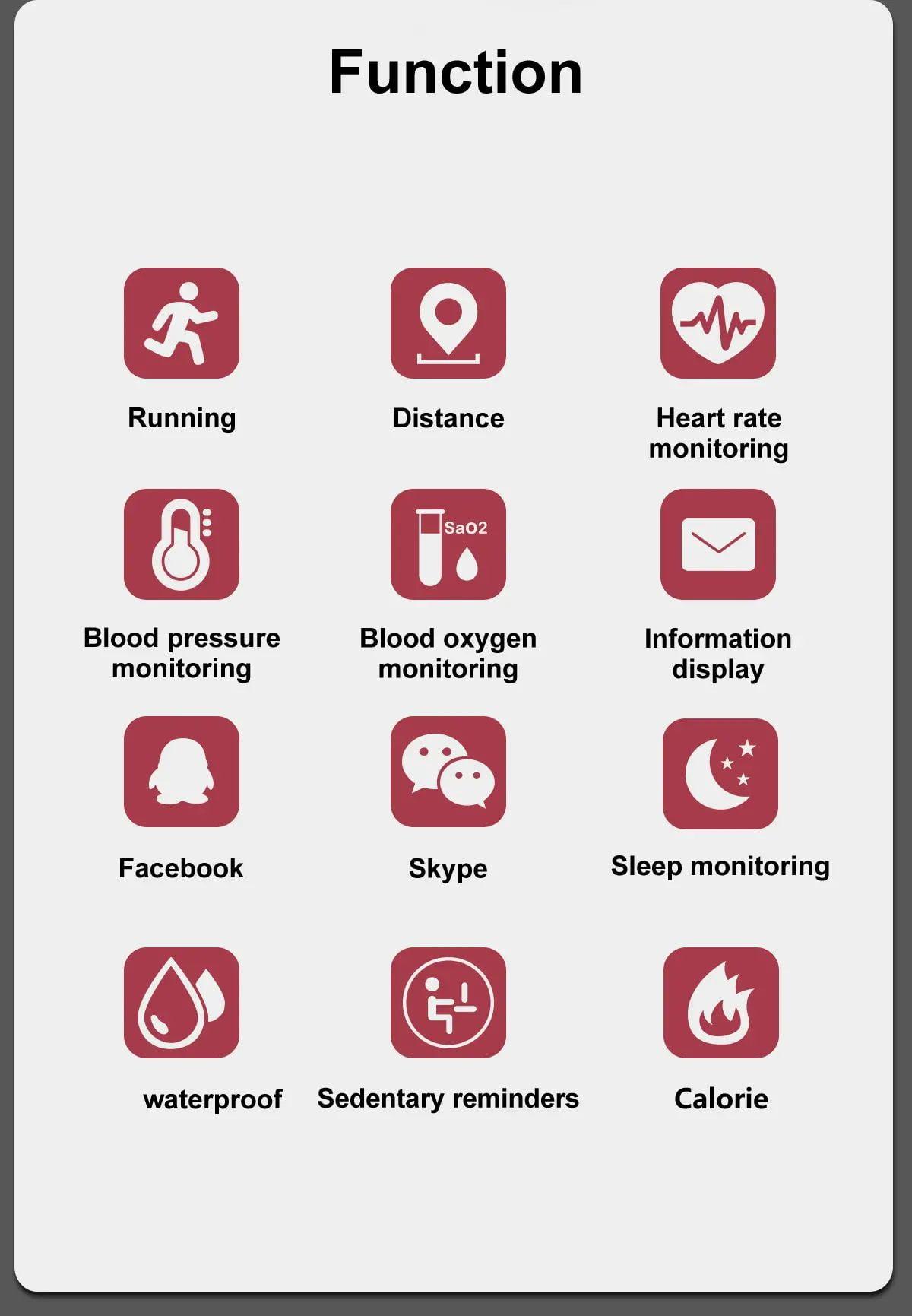 M4 max wristband color screen ip67 blood pressure o2 smart (7)