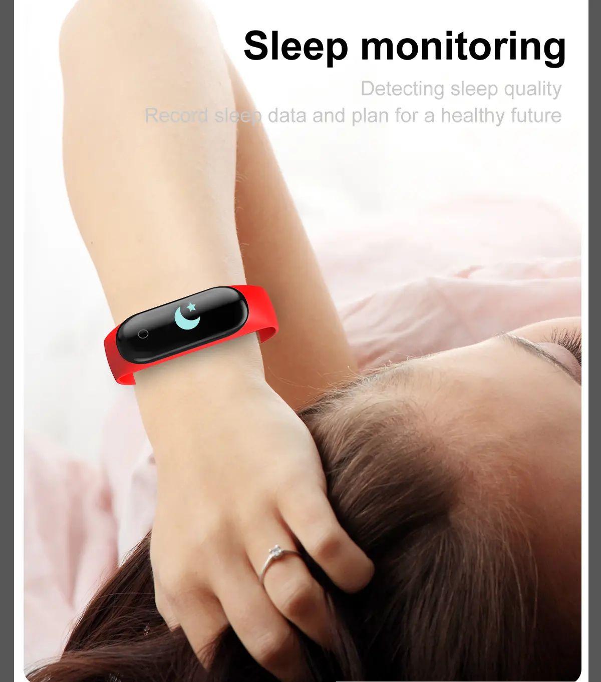 M4 max wristband color screen ip67 blood pressure o2 smart (8)