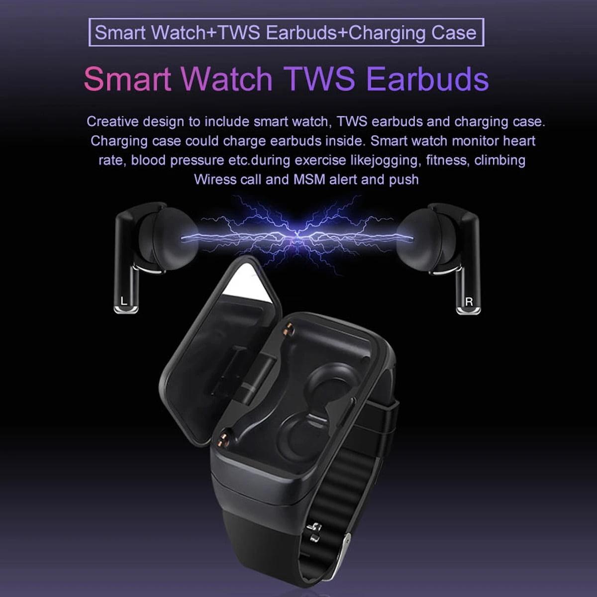 M7 TWS Earphone bluetooth with Smart Watch (9)
