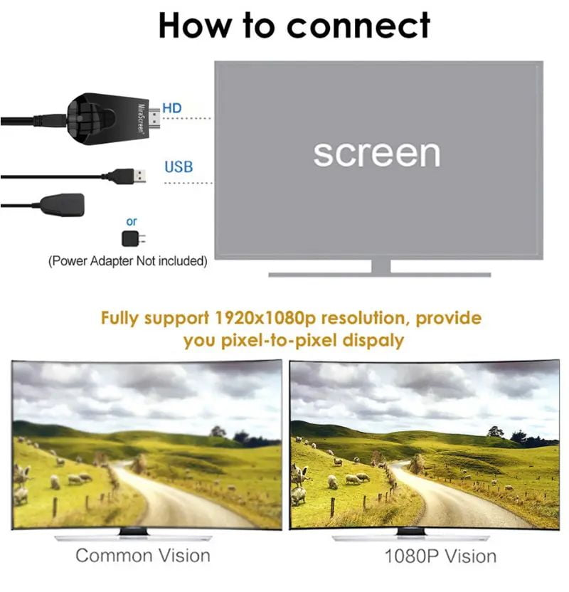 Mirascreen k4 1080p hd miracast air play dlna mirroring display dongle tv stick (1)