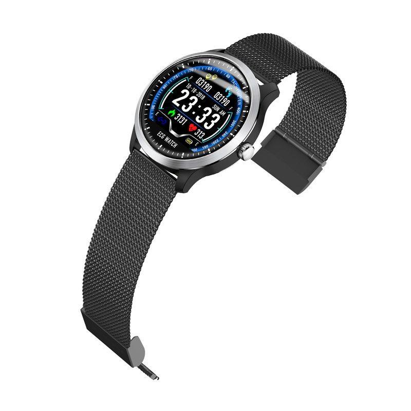 N58 ecg Smart Watch display stainless steel hr sleep monitor (1)