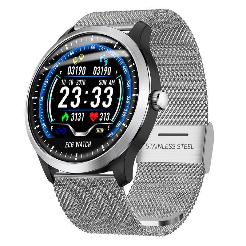N58 ecg Smart Watch display stainless steel hr sleep monitor (11)