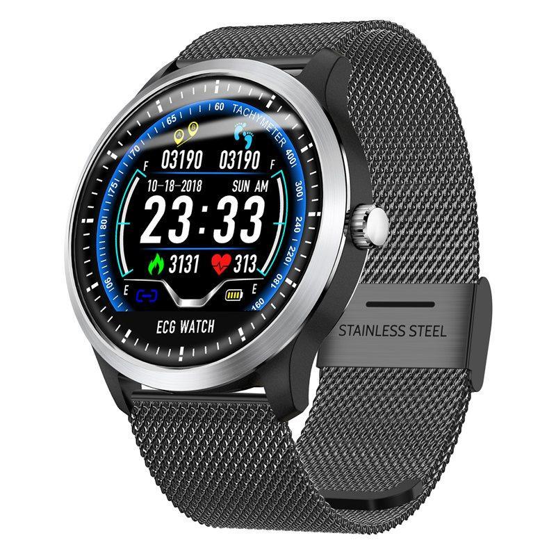 N58 ecg Smart Watch display stainless steel hr sleep monitor (14)