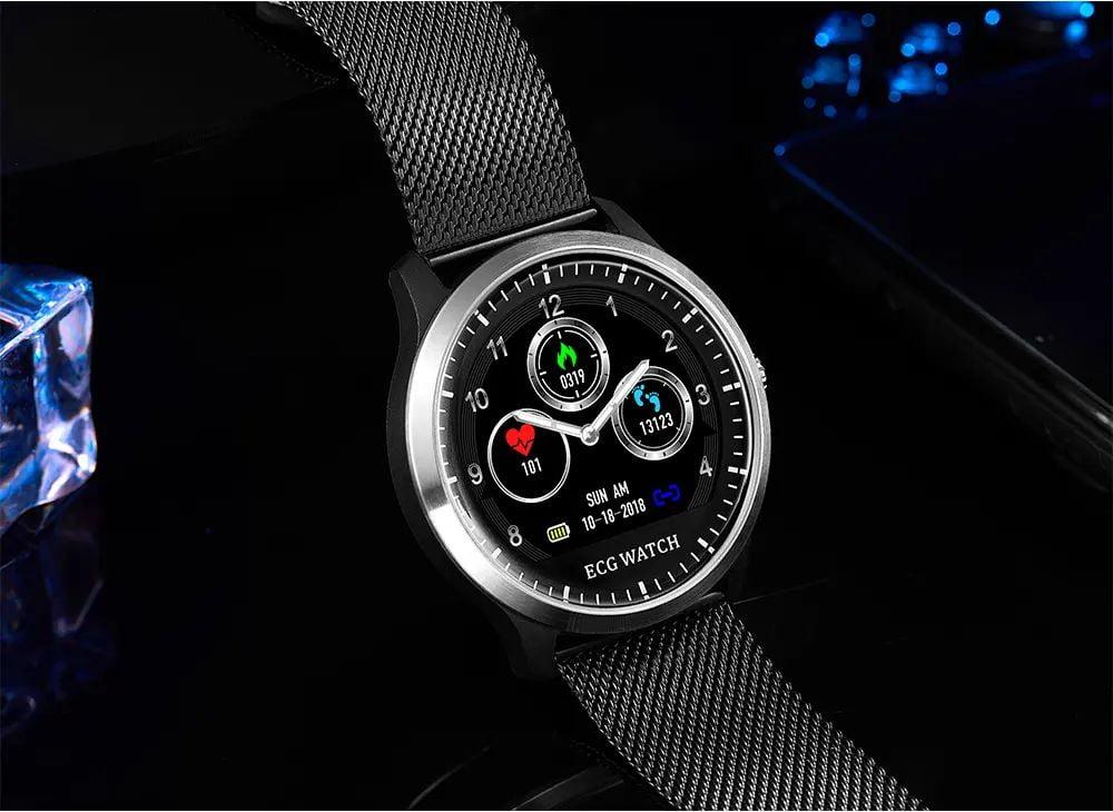 N58 ecg Smart Watch display stainless steel hr sleep monitor (15)