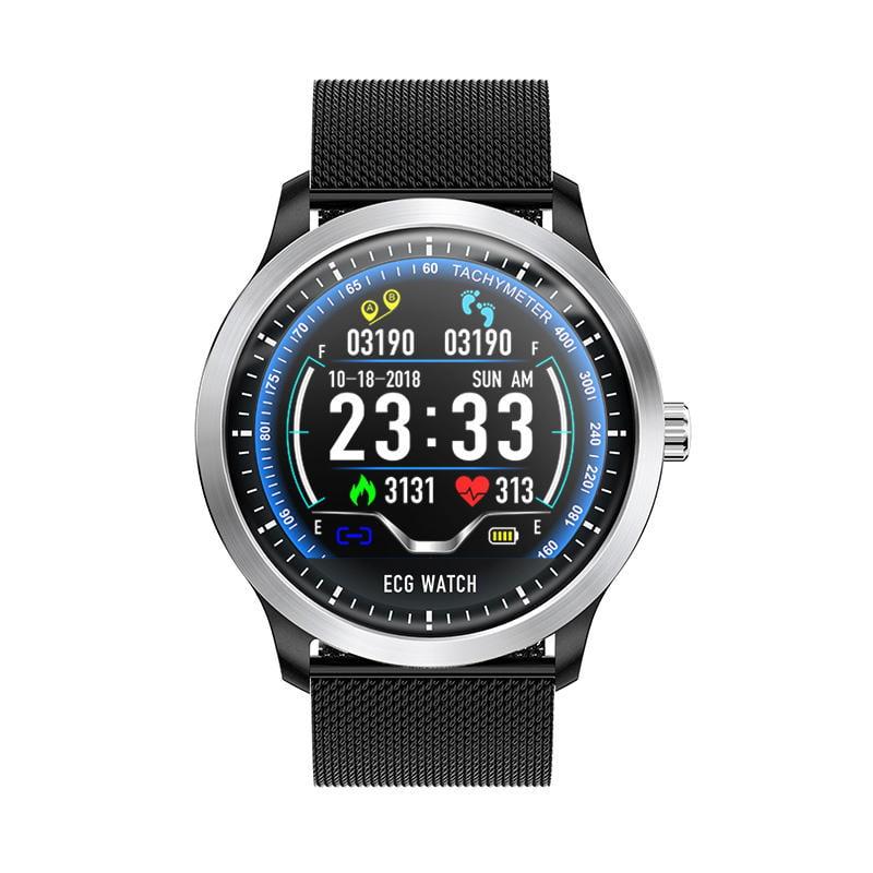 N58 ecg Smart Watch display stainless steel hr sleep monitor (16)