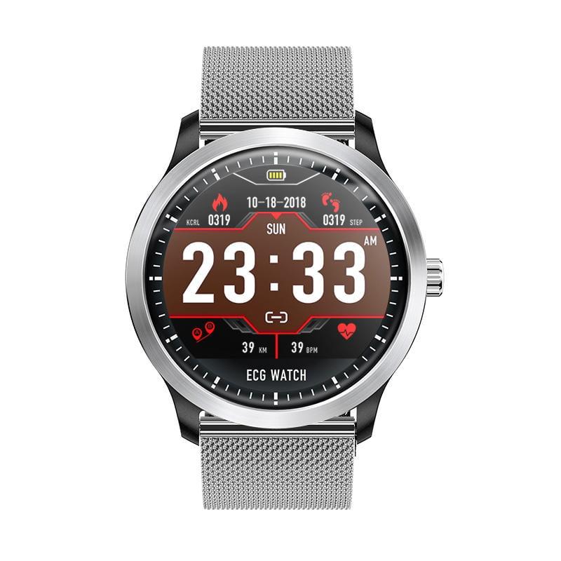 N58 ecg Smart Watch display stainless steel hr sleep monitor (17)