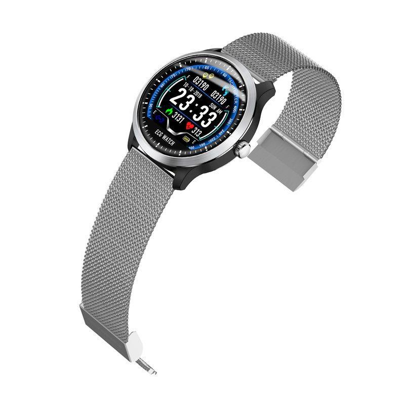 N58 ecg Smart Watch display stainless steel hr sleep monitor (18)