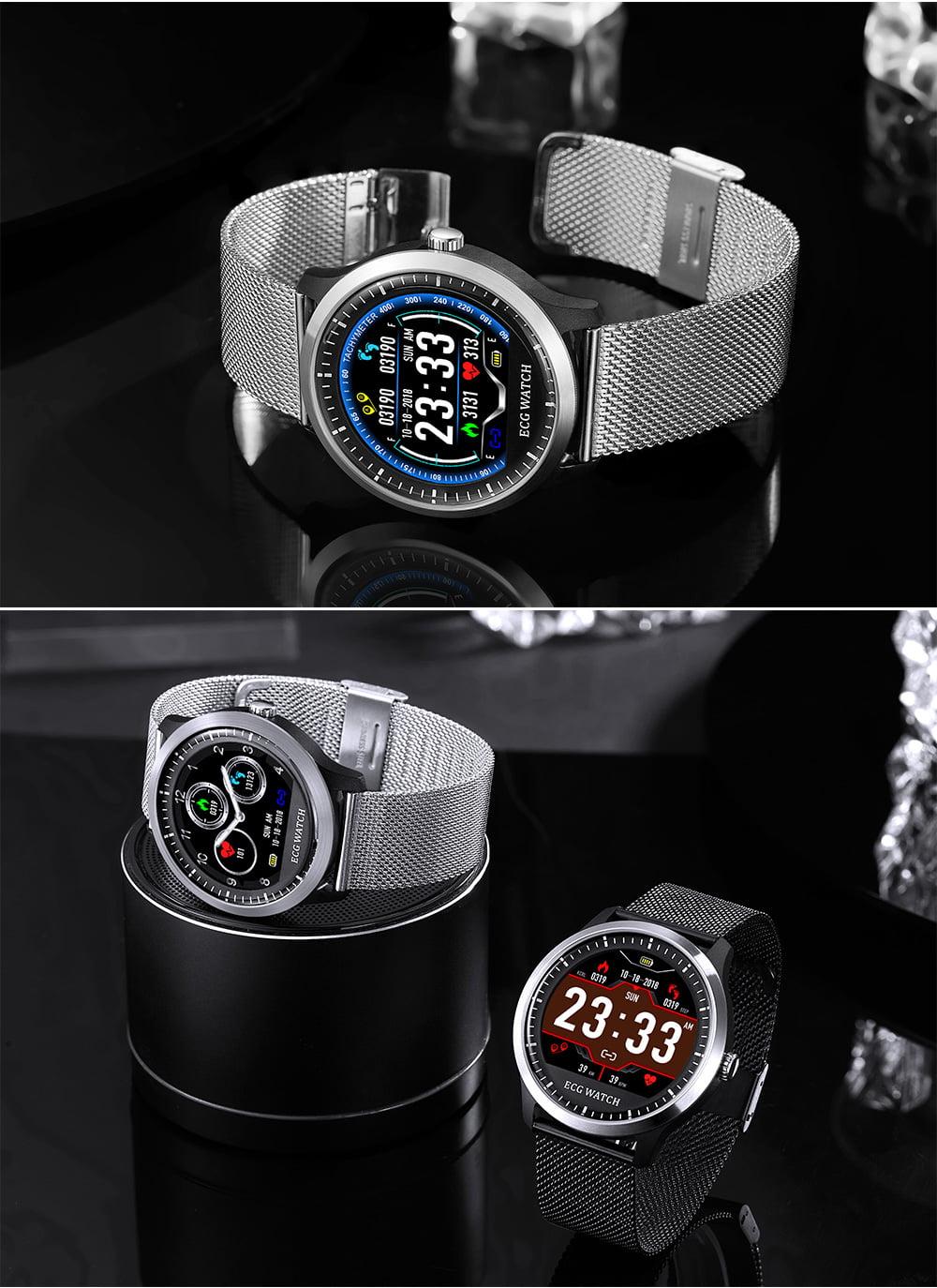 N58 ecg Smart Watch display stainless steel hr sleep monitor (2)