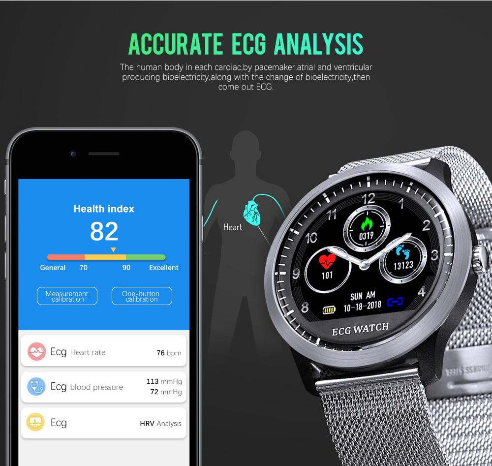 N58 ecg Smart Watch display stainless steel hr sleep monitor (3)