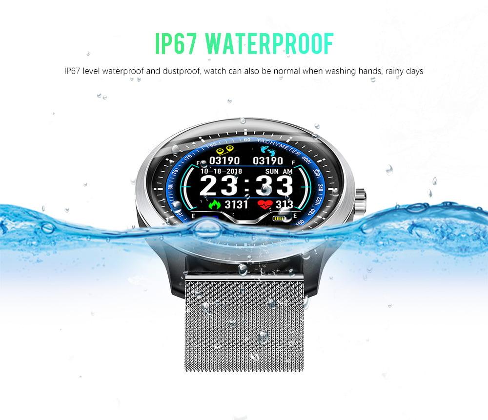N58 ecg Smart Watch display stainless steel hr sleep monitor (4)