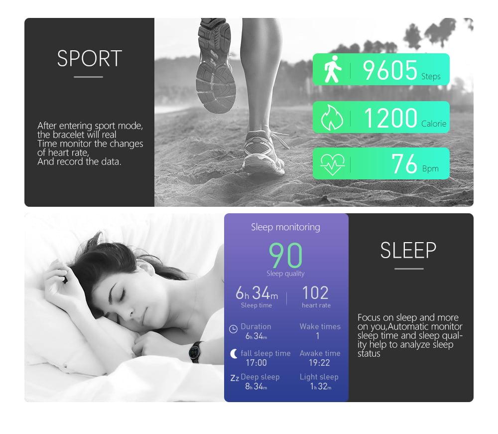 N58 ecg Smart Watch display stainless steel hr sleep monitor (5)