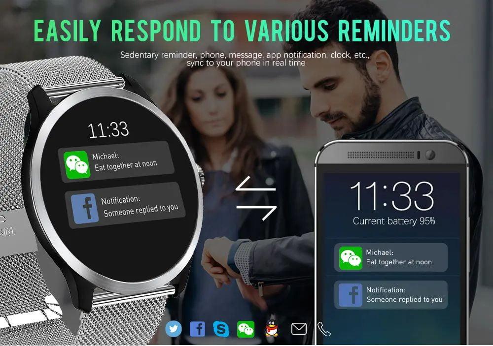N58 ecg Smart Watch display stainless steel hr sleep monitor (9)
