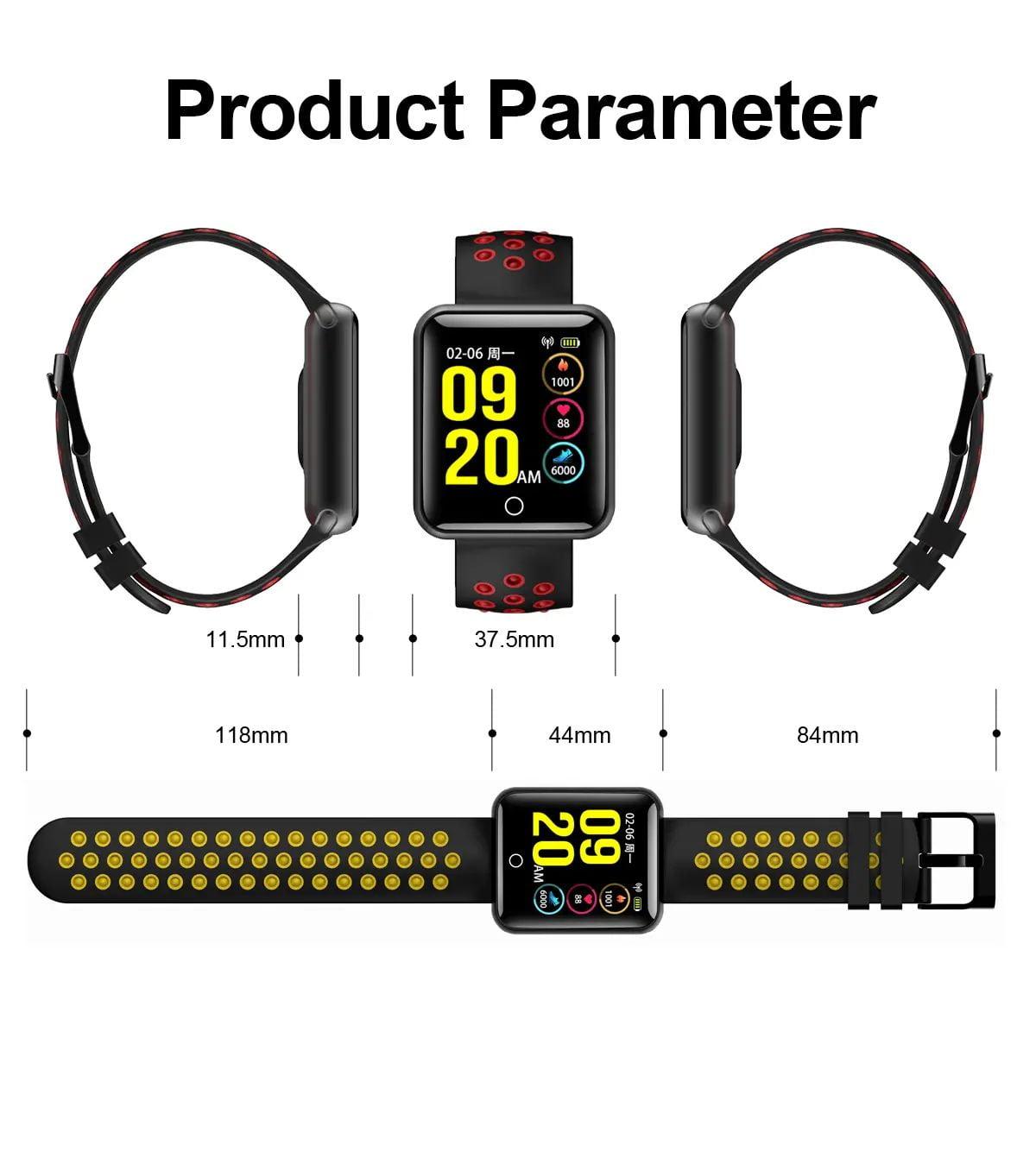 Q81 1.54 hd color screen smart bracelet hr monitor Wholesale (10)