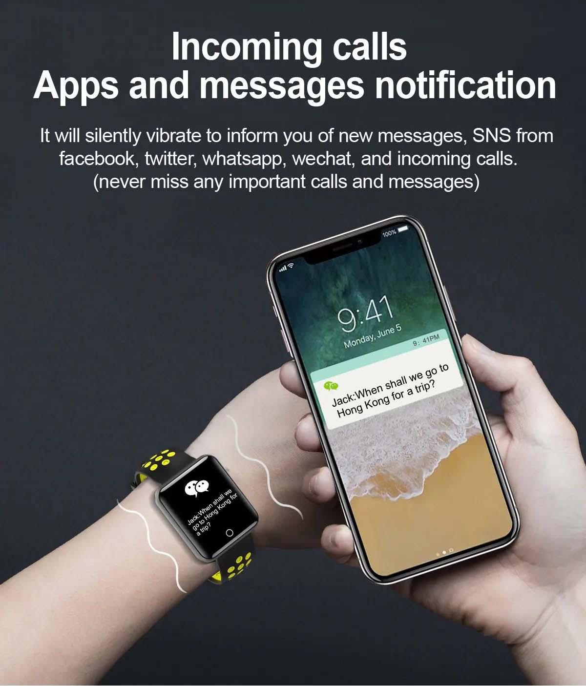 Q81 1.54 hd color screen smart bracelet hr monitor Wholesale (20)