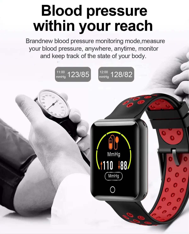 Q81 1.54 hd color screen smart bracelet hr monitor Wholesale (21)
