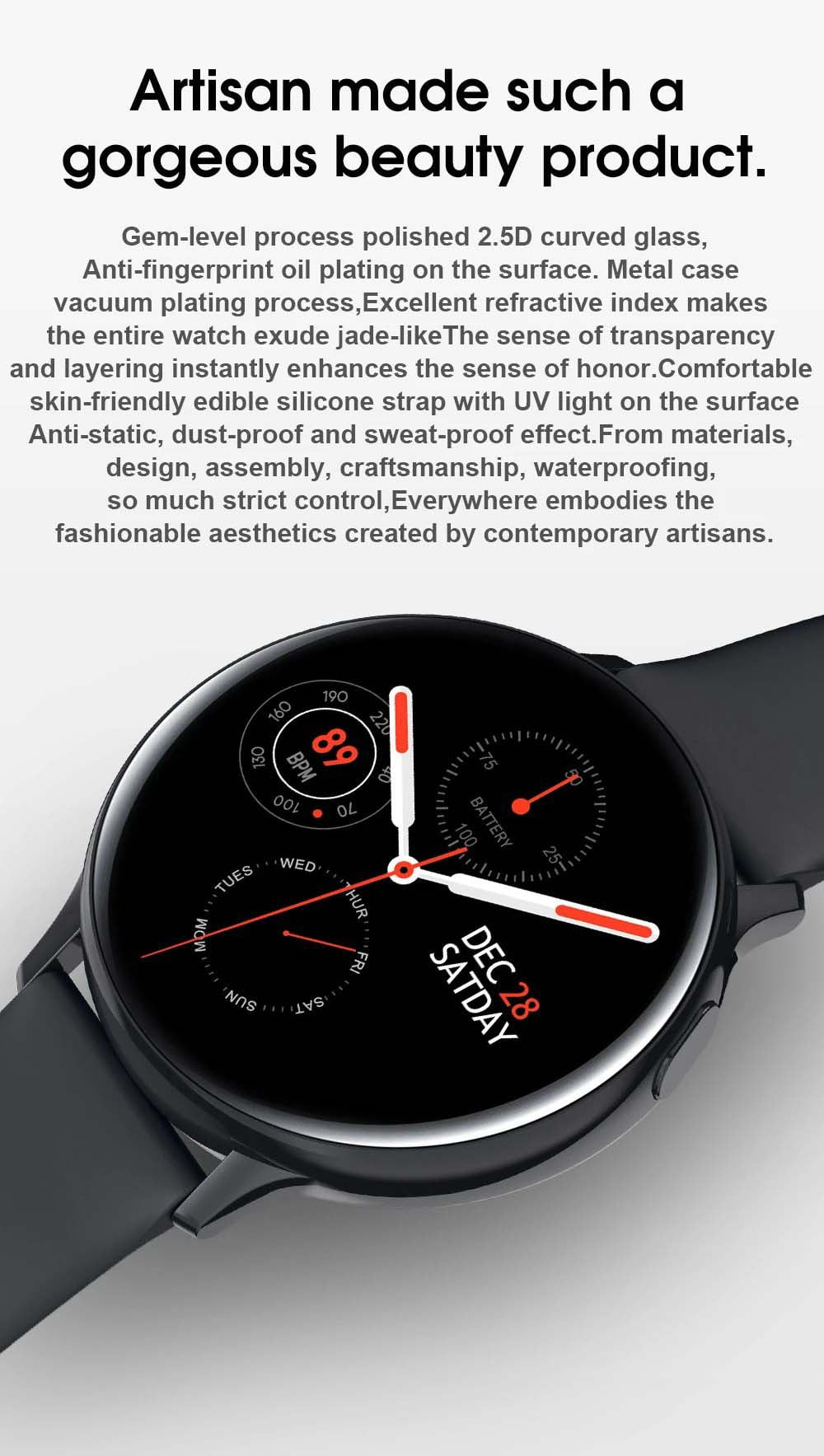 S20 ECG monitor smart watch heart rate monitor blood pressure (15)