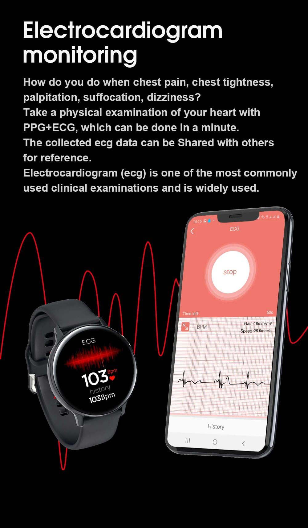 S20 ECG monitor smart watch heart rate monitor blood pressure (17)