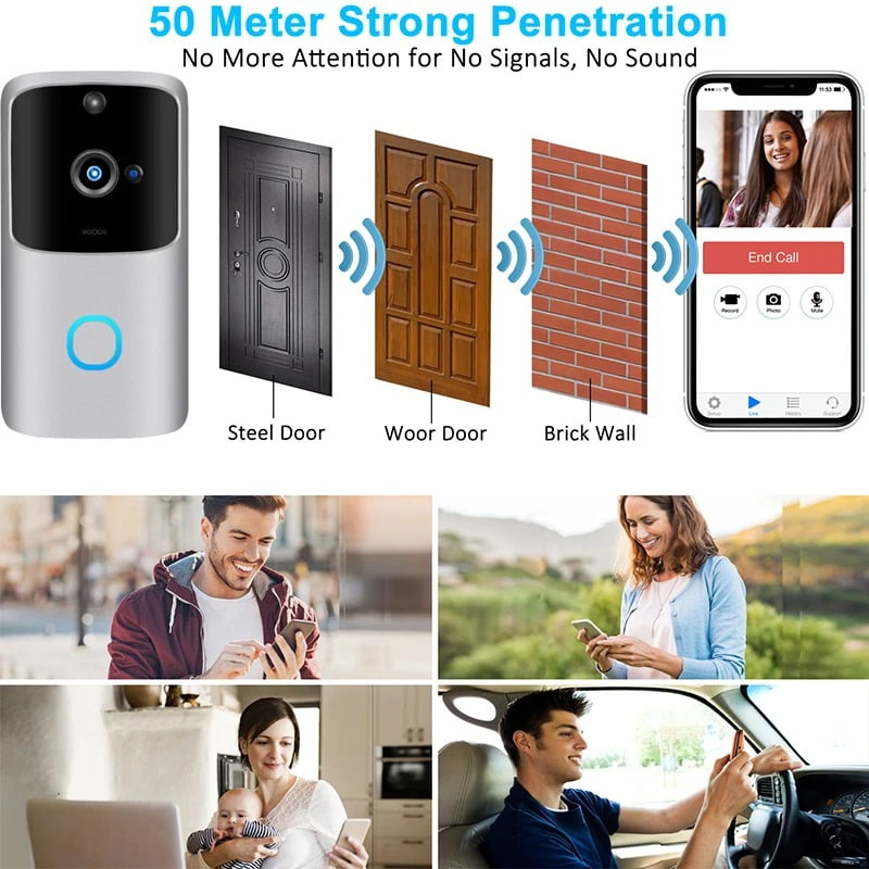 SH01 1080P HD Wireless Wifi Smart Doorbell Camera PIR Bell Security Home (10)