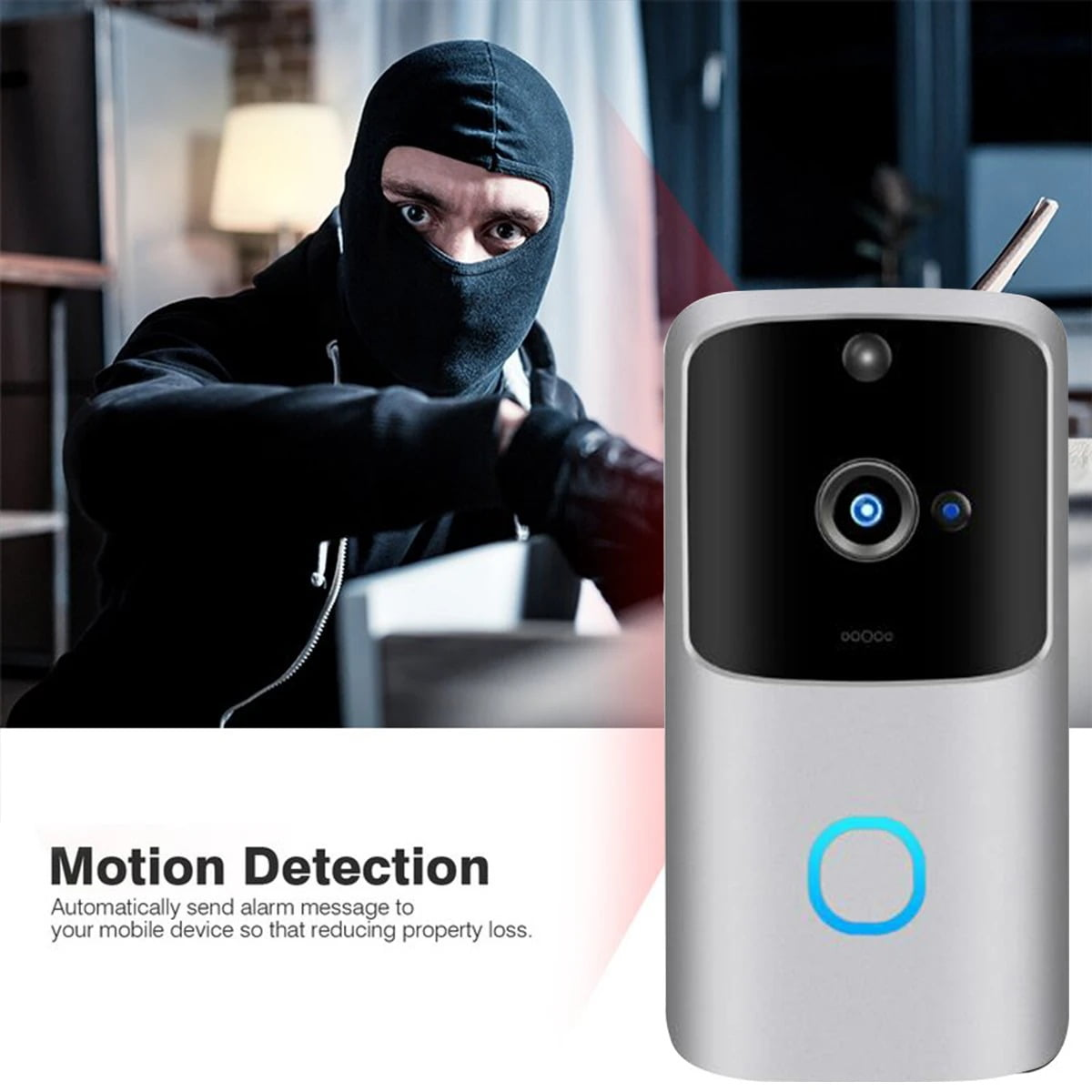 SH01 1080P HD Wireless Wifi Smart Doorbell Camera PIR Bell Security Home (15)