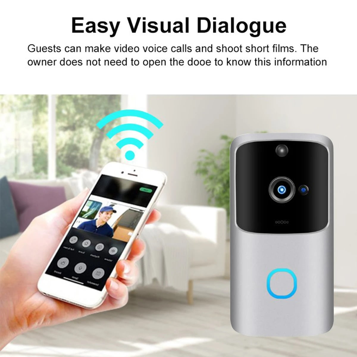 SH01 1080P HD Wireless Wifi Smart Doorbell Camera PIR Bell Security Home (16)