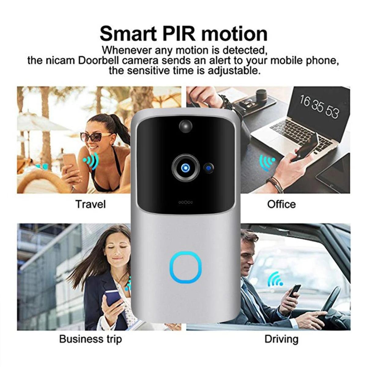 SH01 1080P HD Wireless Wifi Smart Doorbell Camera PIR Bell Security Home (18)