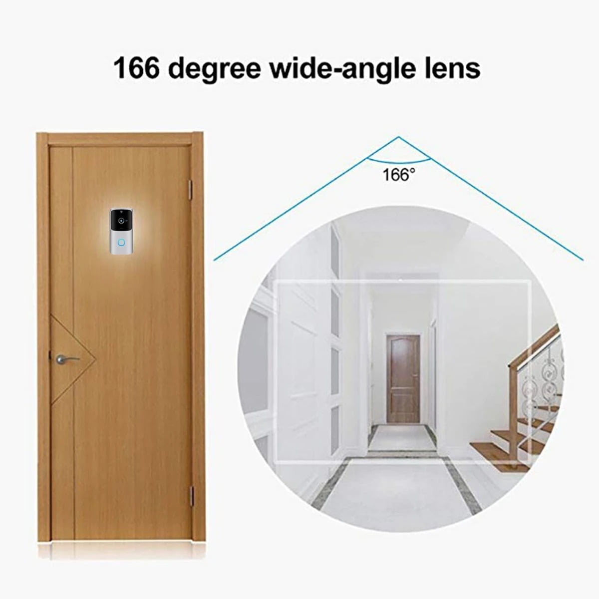 SH01 1080P HD Wireless Wifi Smart Doorbell Camera PIR Bell Security Home (6)