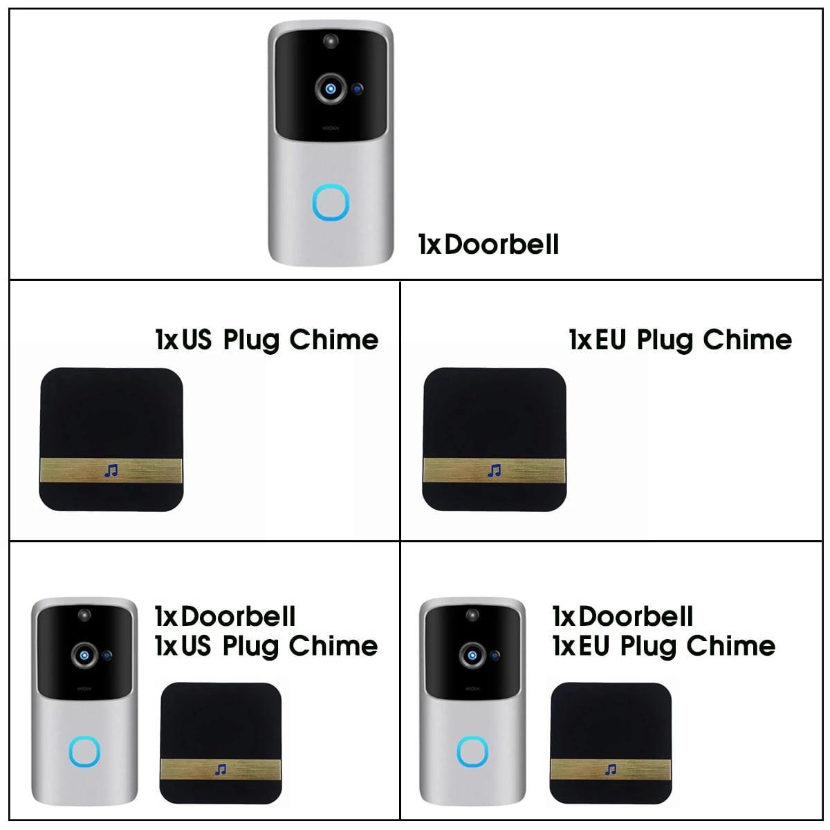 SH01 1080P HD Wireless Wifi Smart Doorbell Camera PIR Bell Security Home (8)