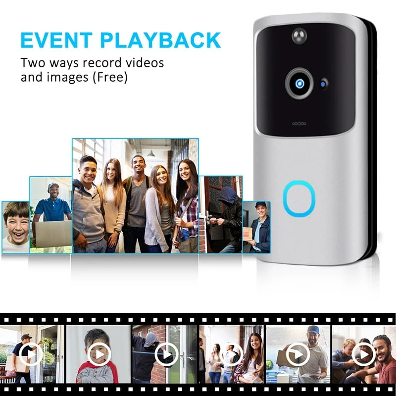 SH01 1080P HD Wireless Wifi Smart Doorbell Camera PIR Bell Security Home (9)