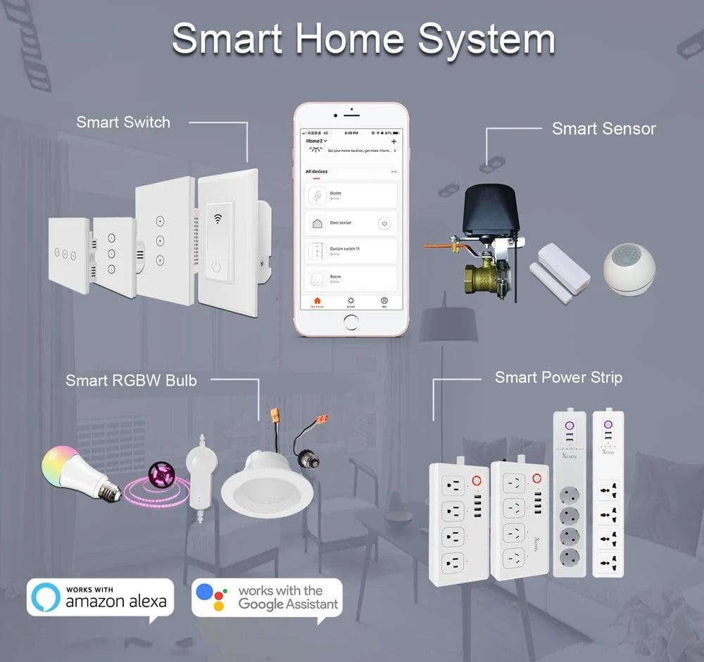 SP04 Tuya Smart Wifi Power Outlet Plugs Alexa Voice Control 86 Remote Control (1)