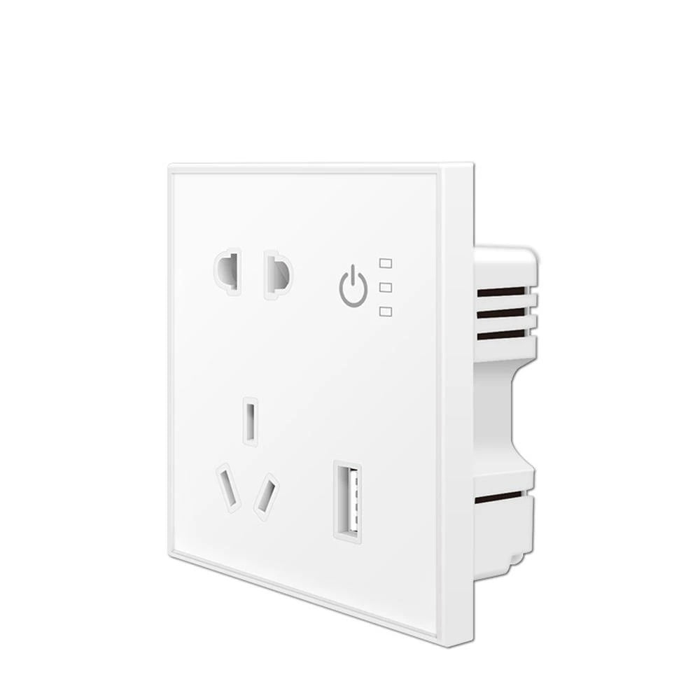 SP04 Tuya Smart Wifi Power Outlet Plugs Alexa Voice Control 86 Remote Control (3)