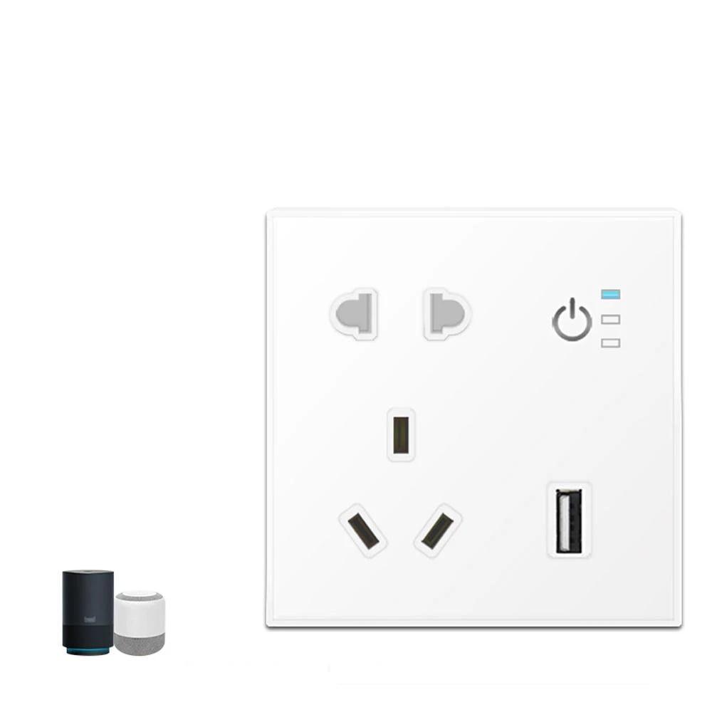 SP04 Tuya Smart Wifi Power Outlet Plugs Alexa Voice Control 86 Remote Control (4)