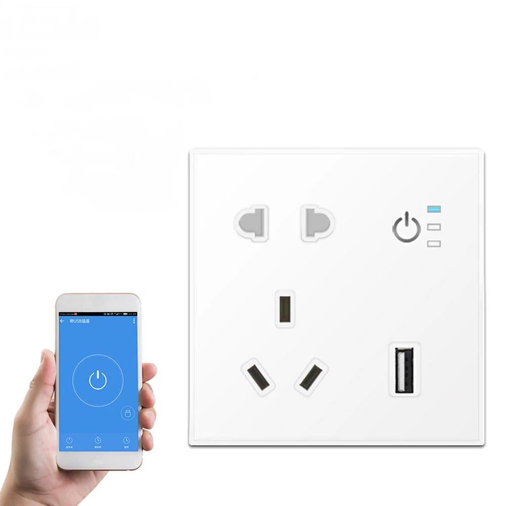 SP04 Tuya Smart Wifi Power Outlet Plugs Alexa Voice Control 86 Remote Control (6)