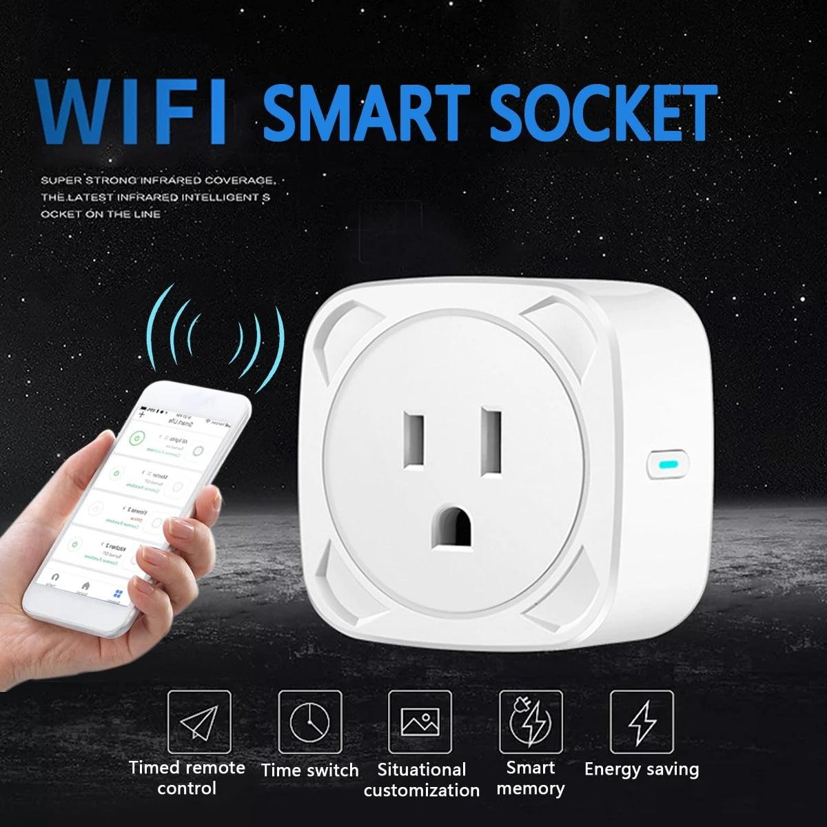 SP11 10A WiFi Smart Plug Socket Switch US Plug Remote control Power Strip Timing (14)