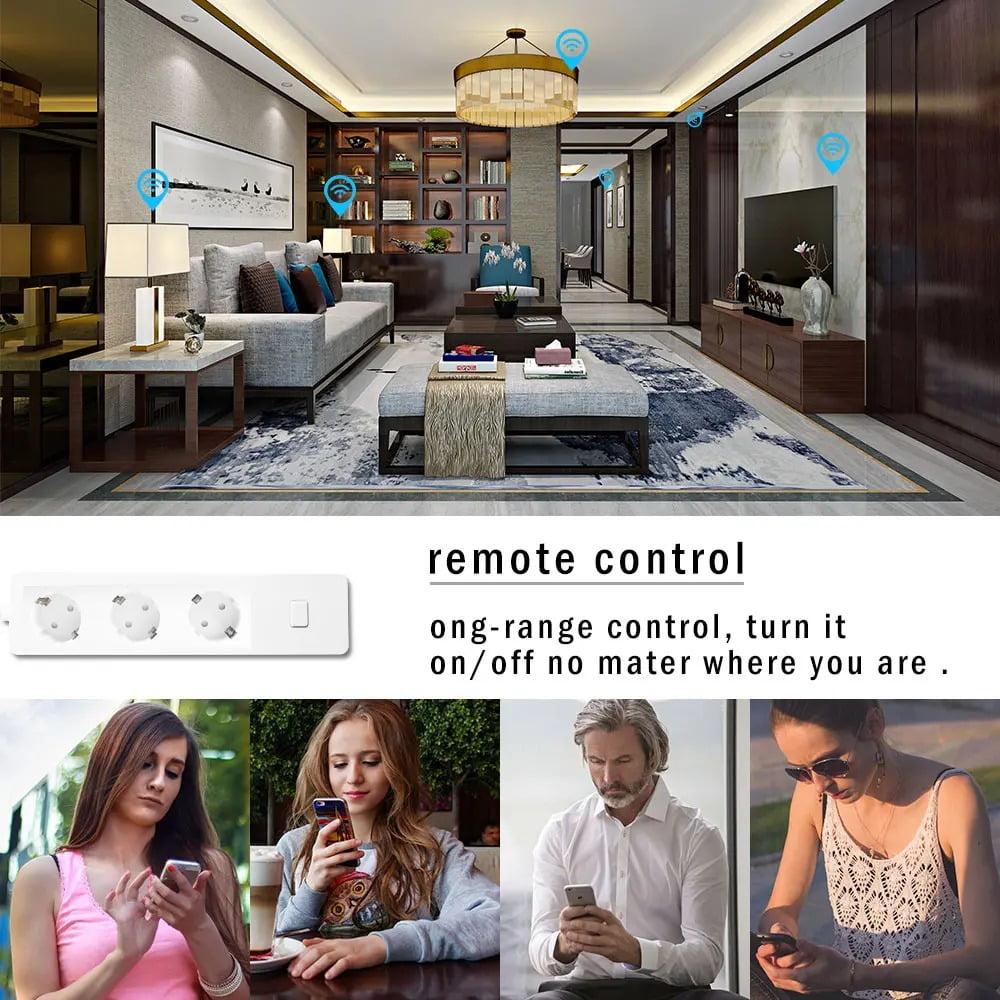 SP14 13A EU Plug USB Smart WIFI Home Power Strip Work with Alexa Smart Home (1)