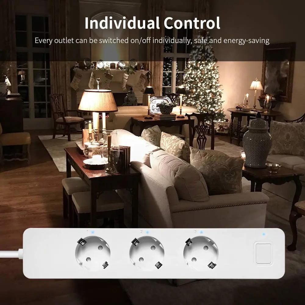 SP14 13A EU Plug USB Smart WIFI Home Power Strip Work with Alexa Smart Home (2)