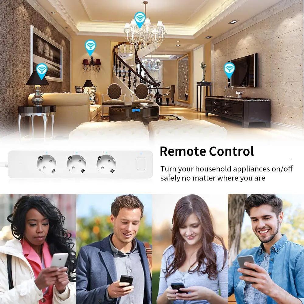 SP14 13A EU Plug USB Smart WIFI Home Power Strip Work with Alexa Smart Home (8)