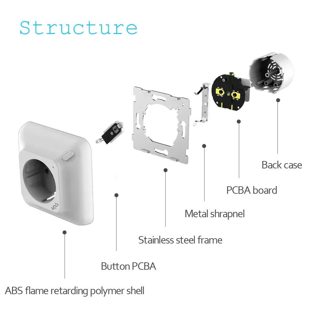 SP25Q 2500W 10A Dual USB Fast Charging Auto Power Off Smart Wireless Socket (2)