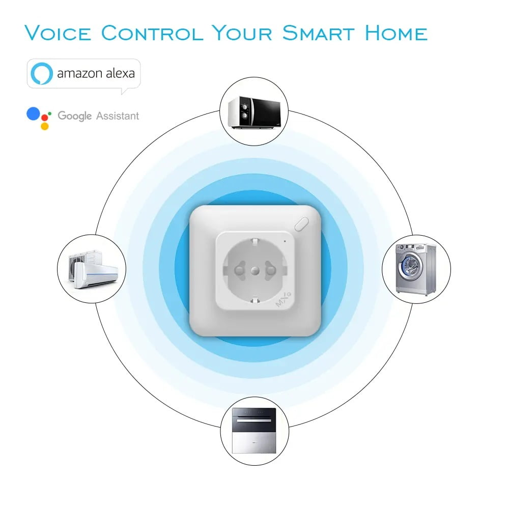 SP25Q 2500W 10A Dual USB Fast Charging Auto Power Off Smart Wireless Socket (7)