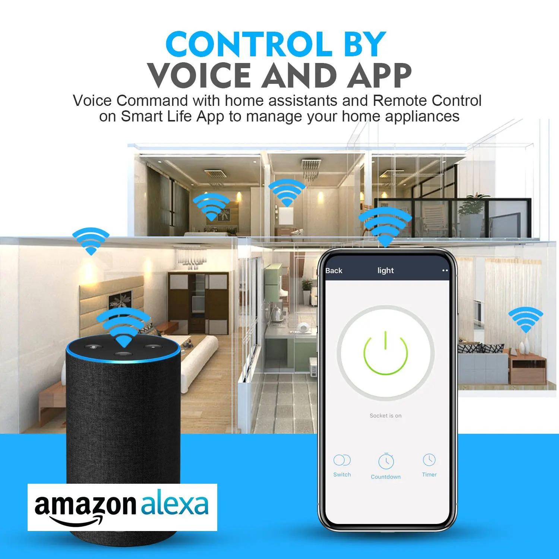Smart WiFi Plug Socket Electricity Statistics APP Remote Control Wifi Smart Plugs (1)