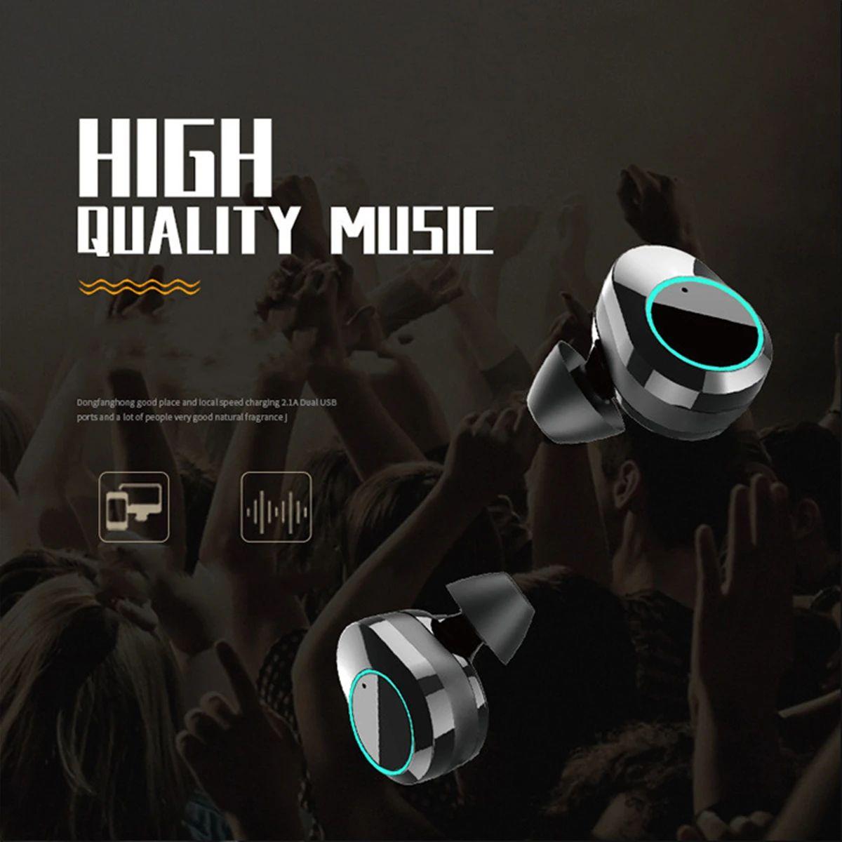 T2C TWS Bluetooth 5.0 earphone hifi stereo type-c charging case wholesale china 1 (7)