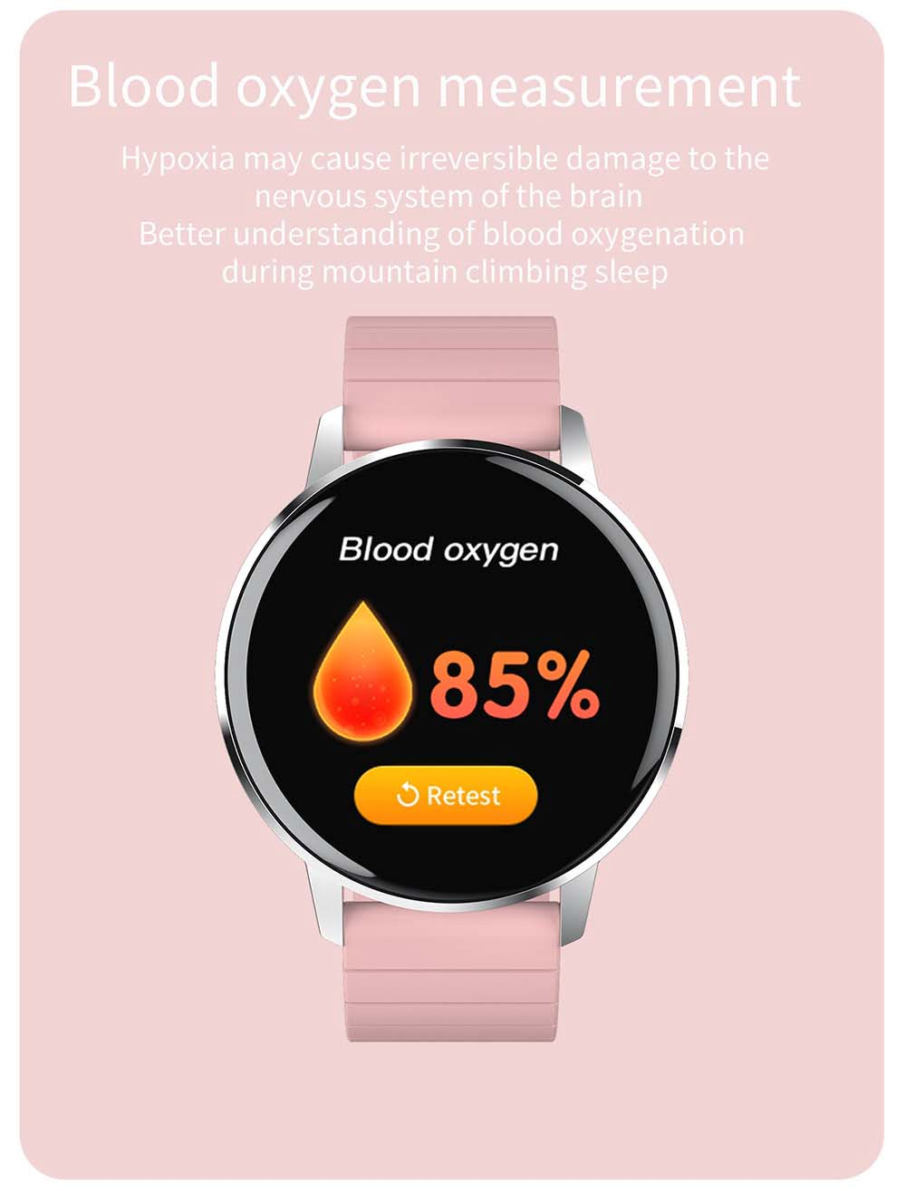 T4 pro 1.3 inch touch screen heart rate blood pressure oxygen (17)