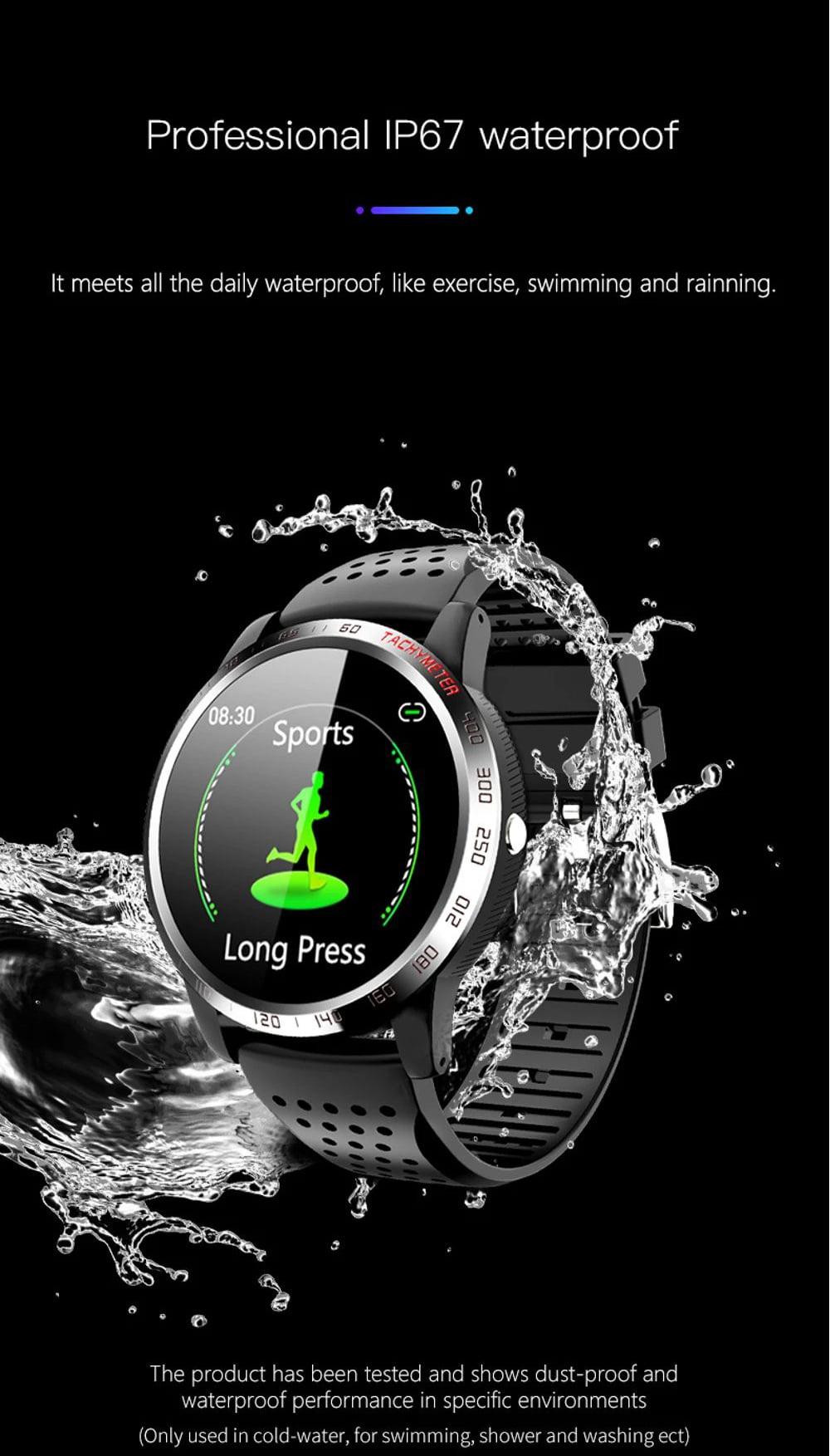 Bakeey smartwatch W3 ecg blood pressure heart rate spo2 heart health monitor (16)