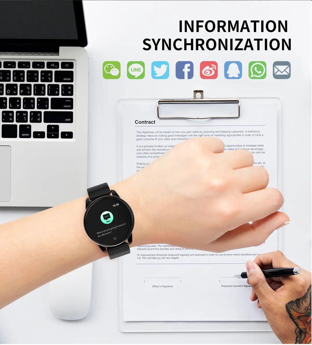 Bakeey smartwatch Watch 4 smart watch hd color screen wristband (13)