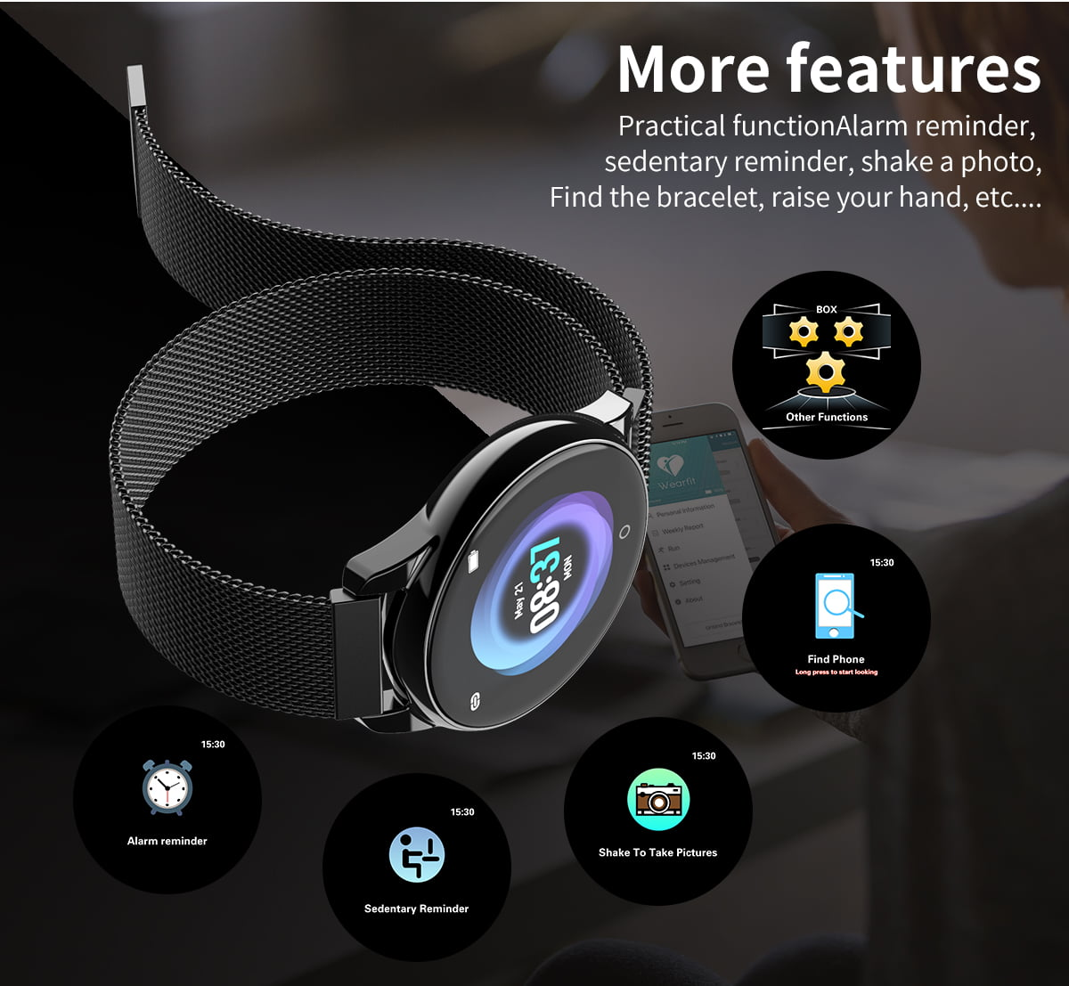Watch 4 smart watch hd color screen wristband (15)