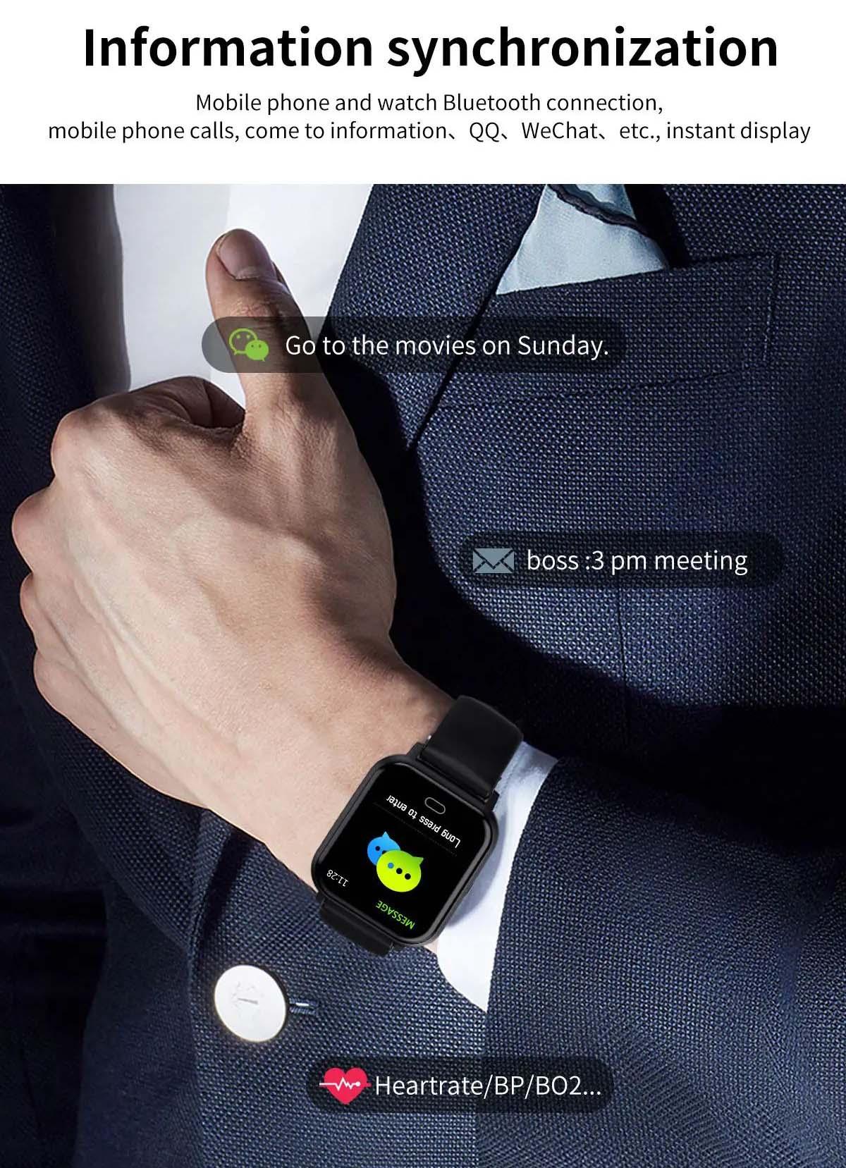 Watch 6 heart rate blood pressure oxygen monitor wristband (12)