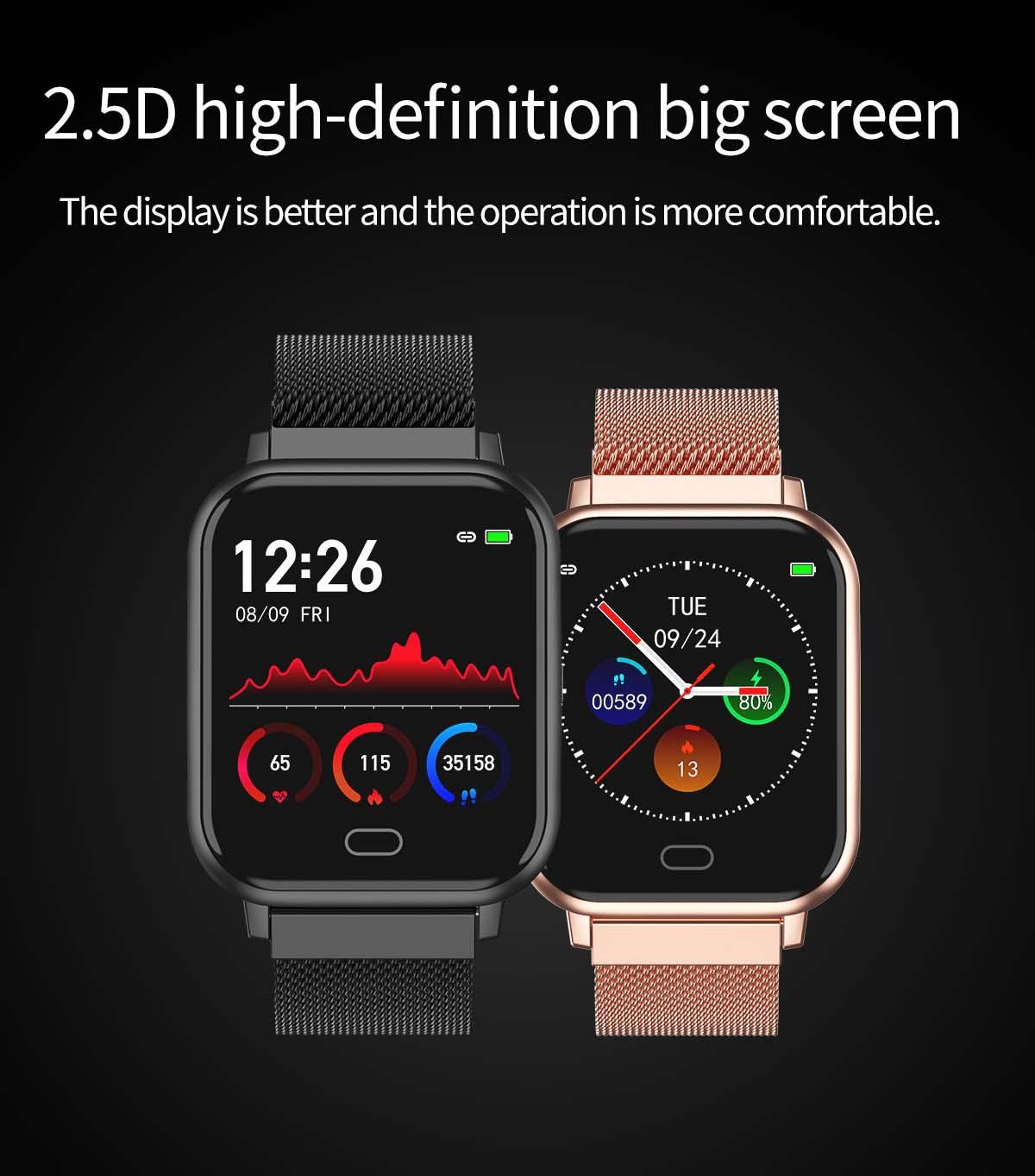 Watch 6 heart rate blood pressure oxygen monitor wristband (16)